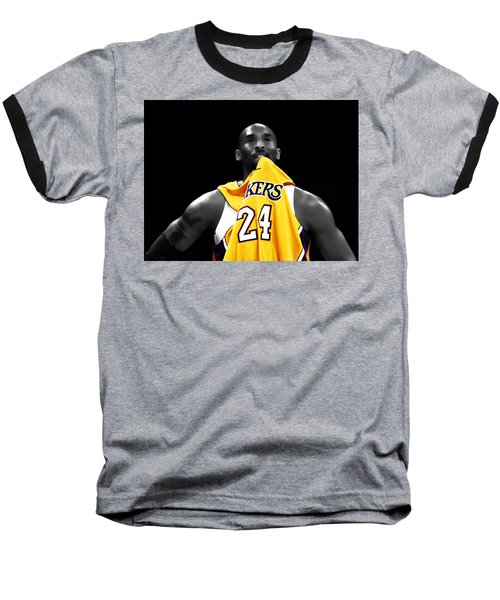Kobe Bryant 04c Baseball T-Shirt by Brian Reaves
