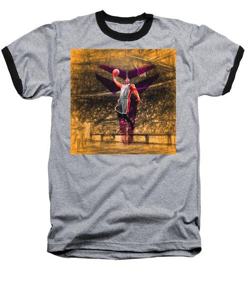 Kobe Bryant Black Mamba Digital Painting Baseball T-Shirt by David Haskett
