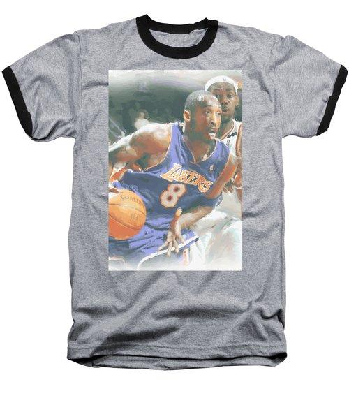 Kobe Bryant Lebron James Baseball T-Shirt by Joe Hamilton