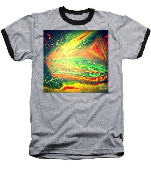 Baseball T-Shirt featuring the painting Koenigsegg Ccxr Trevita Four Point Eight Million Dollars by Richard W Linford
