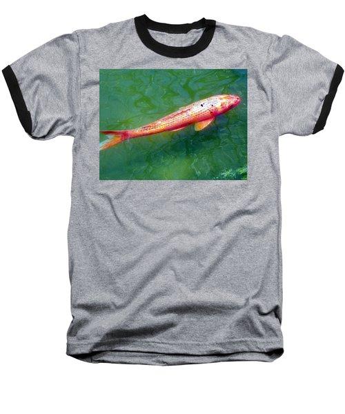 Koi Fish Baseball T-Shirt by Joseph Frank Baraba