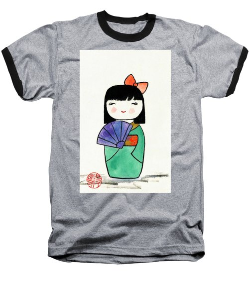 Kokeshi Doll Baseball T-Shirt