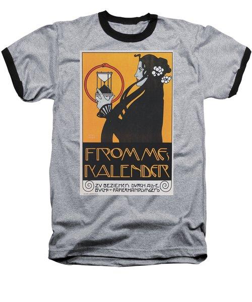 Koloman Moser Plakat  Fur Frommes Kalender 1899 Baseball T-Shirt