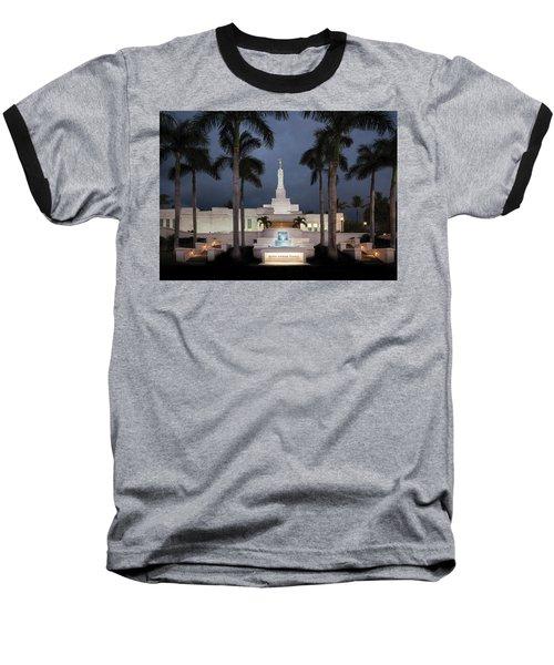 Kona Hawaii Temple-night Baseball T-Shirt