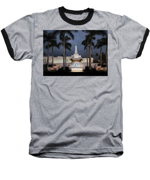 Kona Hawaii Temple-night Baseball T-Shirt