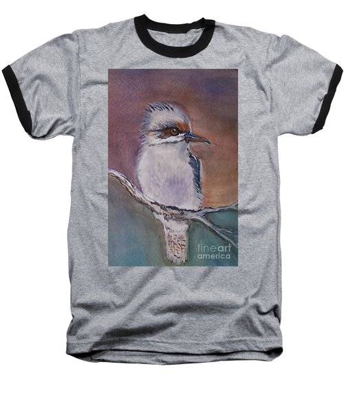 Baseball T-Shirt featuring the painting Kookaburra Fancy by Leslie Allen