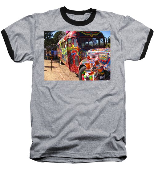 Kool Aid Acid Test Bus Baseball T-Shirt by Kym Backland