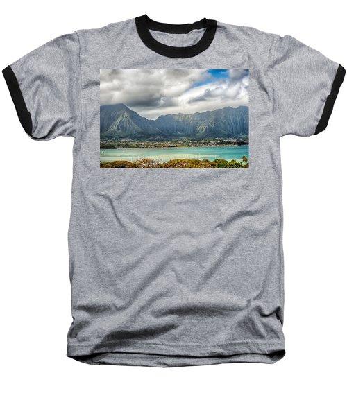 Ko'olau And H-3 In Color Baseball T-Shirt