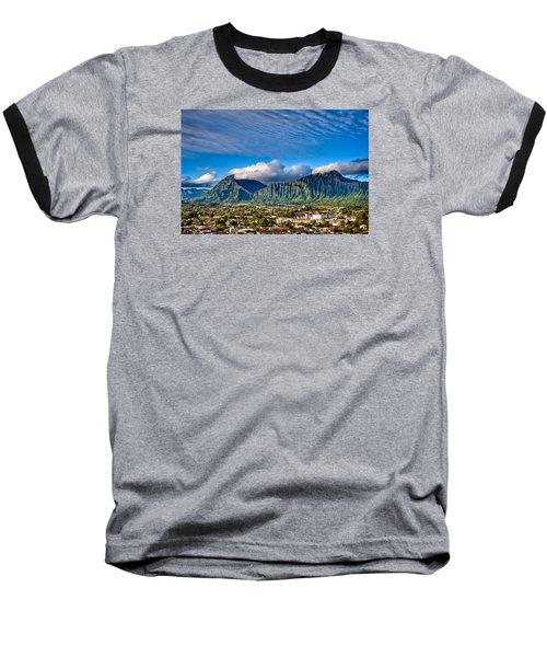 Baseball T-Shirt featuring the photograph Koolau And Pali Lookout From Kanohe by Dan McManus