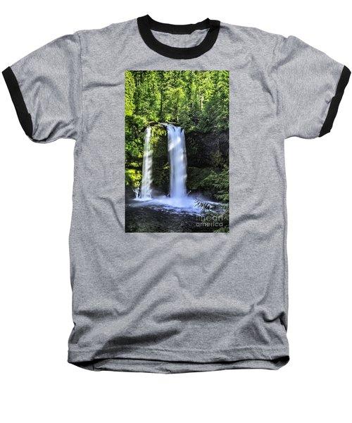 Baseball T-Shirt featuring the photograph Koosa Falls,oregon by Nancy Marie Ricketts