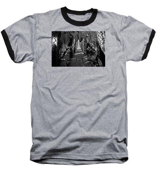 Kootenai Falls Bridge Baseball T-Shirt