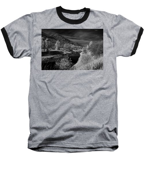 Kootenai Wildlife Refuge In Infrared 3 Baseball T-Shirt