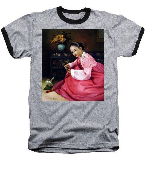 Korea Belle 3 Baseball T-Shirt