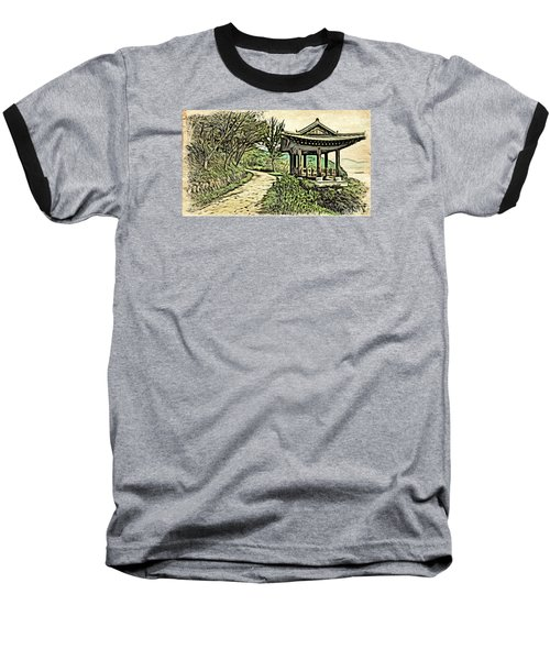 Korean Architecture Baseball T-Shirt