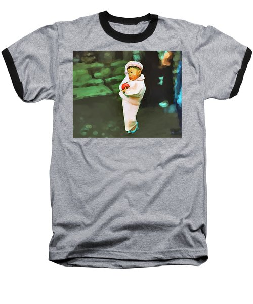 Korean Pink Baseball T-Shirt by Dale Stillman