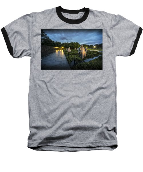 Baseball T-Shirt featuring the photograph Korean War Memorial by David Morefield
