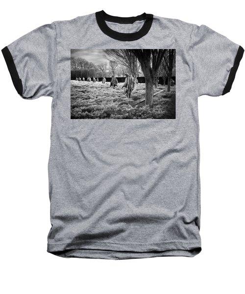 Korean War Memorial Baseball T-Shirt by Paul Seymour