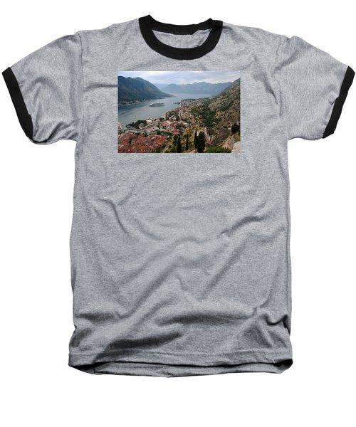 Kotor Bay Baseball T-Shirt by Robert Moss