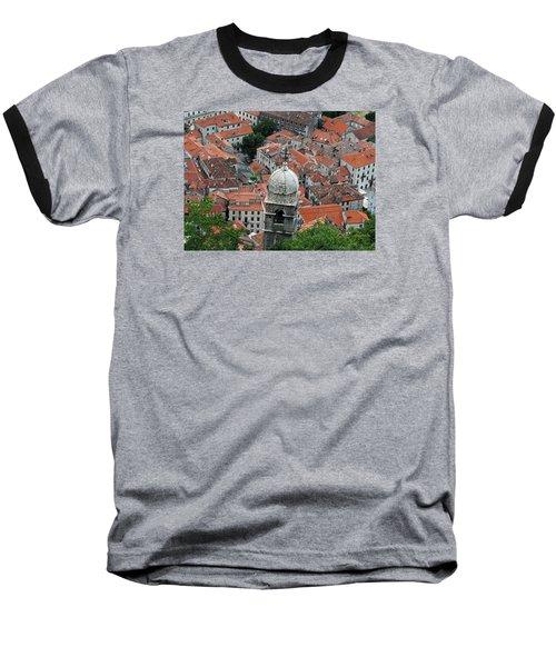Kotor Rooftops Baseball T-Shirt by Robert Moss