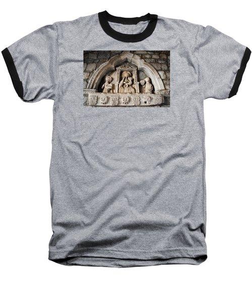 Kotor Wall Engraving Baseball T-Shirt by Robert Moss