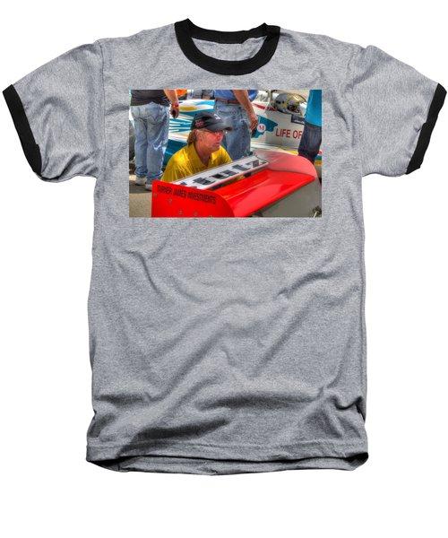 Kraig Johnson Driver Mechanic Raconteur Baseball T-Shirt by Josh Williams