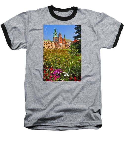 Baseball T-Shirt featuring the photograph Krakow Castle by Dennis Cox WorldViews