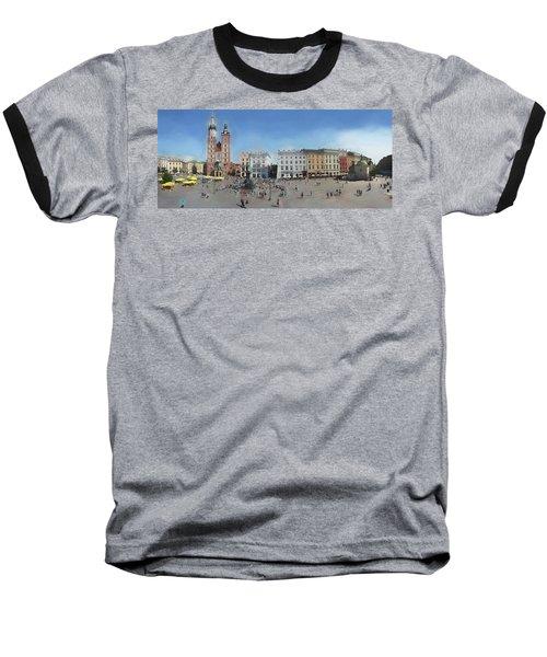 Krakow, Town Square Baseball T-Shirt