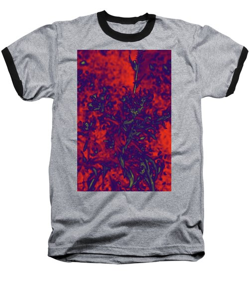 Baseball T-Shirt featuring the digital art Krazy Kosmic Katchina I by Carolina Liechtenstein