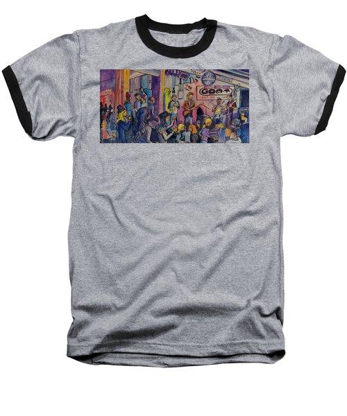 Kris Lager Band At The Goat Baseball T-Shirt by David Sockrider