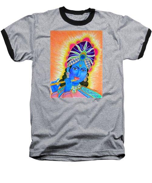 Krishna -- Colorful Portrait Of Hindu God Baseball T-Shirt
