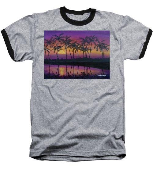 Kristine's Sunset Baseball T-Shirt