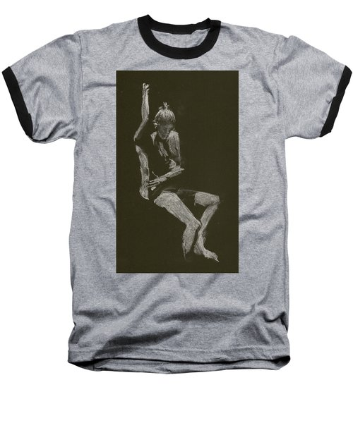 Kroki 2014 10 04_12 Figure Drawing White Chalk Baseball T-Shirt