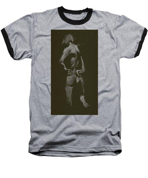Kroki 2015 01 10_7 Figure Drawing White Chalk Baseball T-Shirt