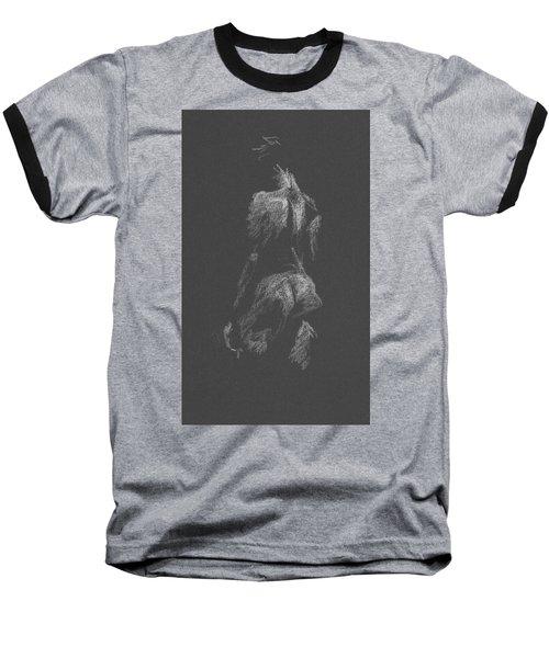 Kroki 2015 09 26 _3 Figure Drawing White Chalk Baseball T-Shirt