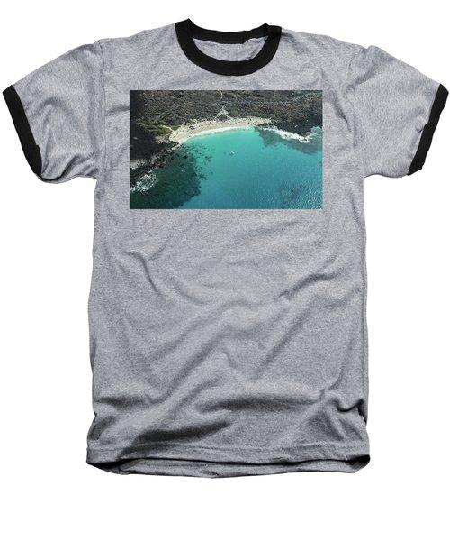 Kua Bay Aerial Baseball T-Shirt