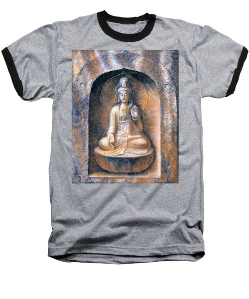 Kuan Yin Meditating Baseball T-Shirt