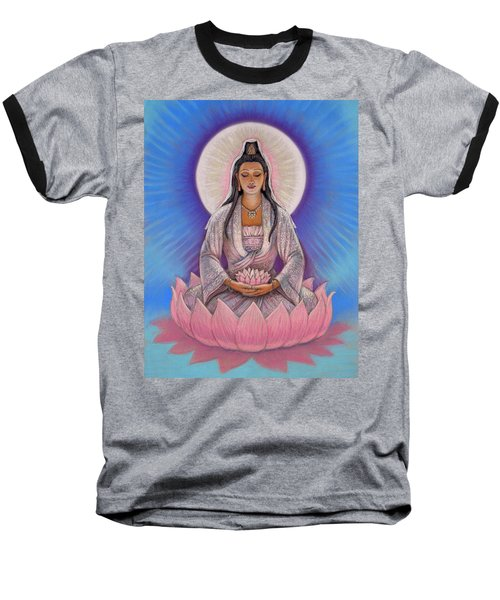 Baseball T-Shirt featuring the painting Kuan Yin by Sue Halstenberg