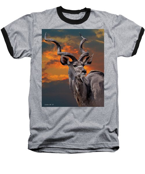 Kudu At Sunset Baseball T-Shirt
