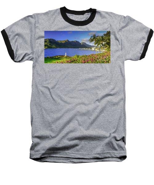 Kuku'i Point Lighthouse, Nawiliwili Bay, Kauai Hawaii Baseball T-Shirt