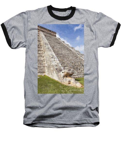 Kukulkan Pyramid At Chichen Itza Baseball T-Shirt