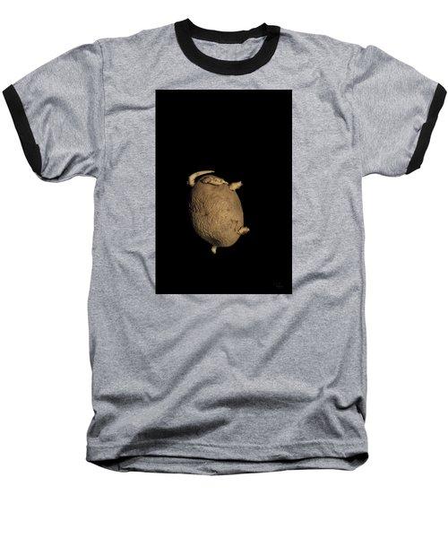 Kung-fu Potato Baseball T-Shirt by Raffaella Lunelli