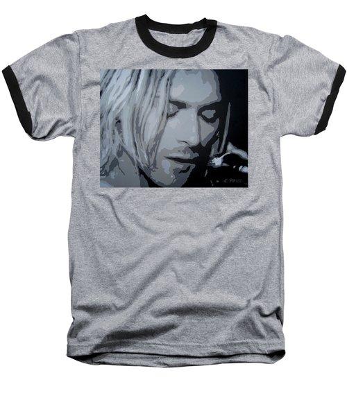 Kurt Cobain Baseball T-Shirt by Ashley Price