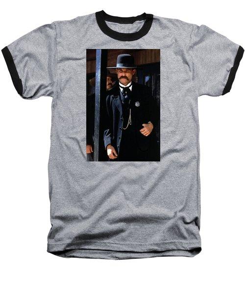 Kurt Russell As Wyatt Earp Tombstone Arizona 1993-2015 Baseball T-Shirt by David Lee Guss