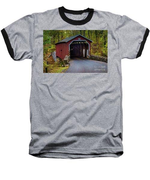 Kurtz Mill Covered Bridge Baseball T-Shirt