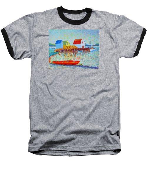 Kyak At Blue Rocks Baseball T-Shirt by Rae  Smith