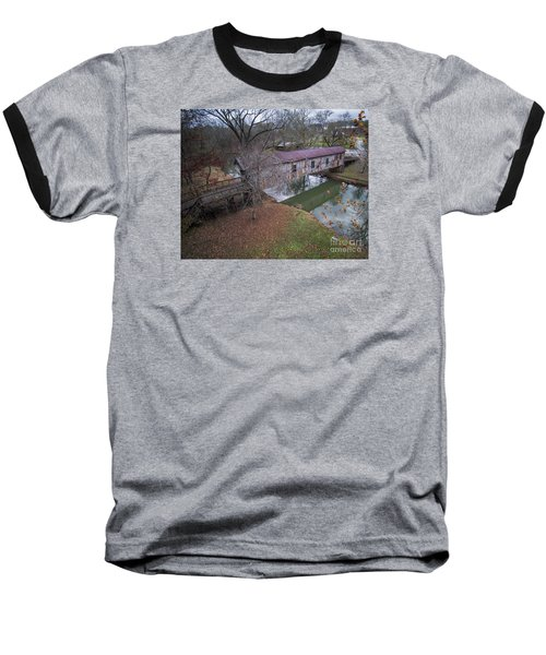 Kymulga Covered Bridge Aerial 1 Baseball T-Shirt