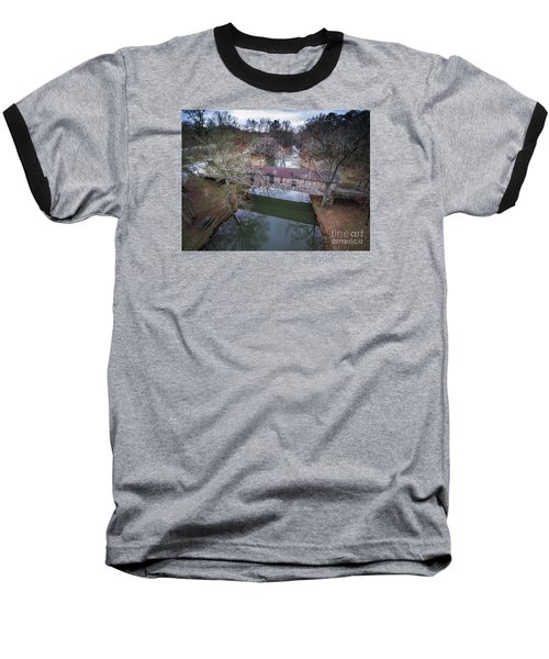 Kymulga Covered Bridge Aerial 2 Baseball T-Shirt