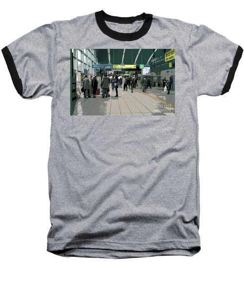 Baseball T-Shirt featuring the photograph Kyoto Station, Japan Poster 2 by Perry Rodriguez