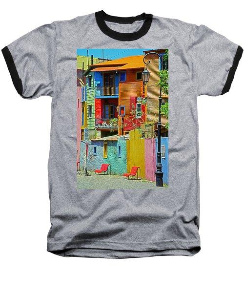 La Boca - Buenos Aires Baseball T-Shirt by Juergen Weiss