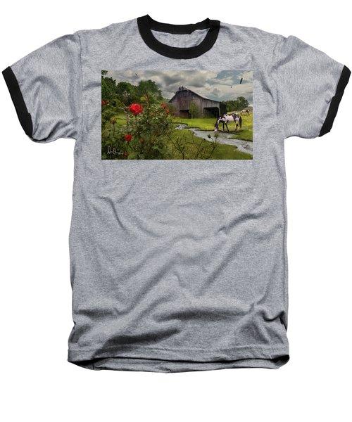 Baseball T-Shirt featuring the photograph La Buena Vida by Don Olea